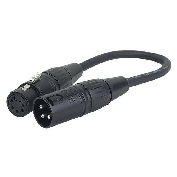 DMX 5 Pin Female to 3 Pin Male XLR Jumper