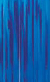 Slit Drape (Slash Curtain) Blue