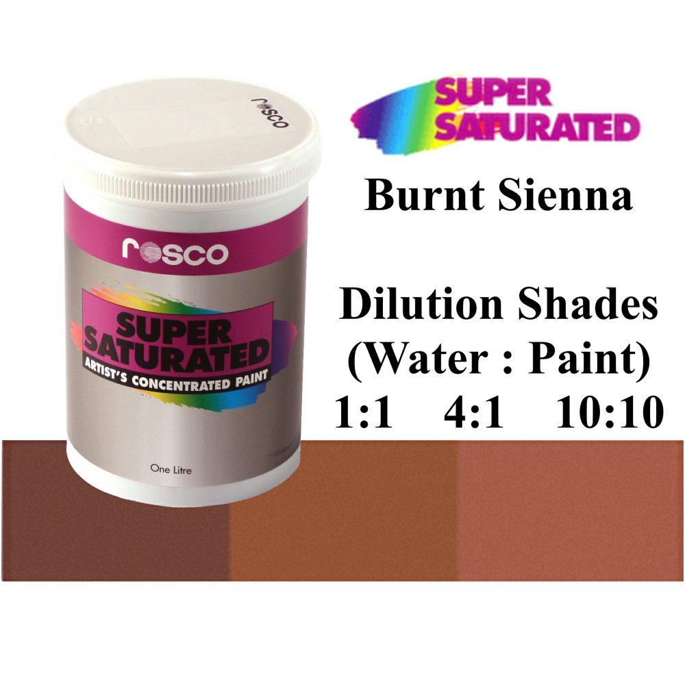 1l Rosco Super Saturated Burnt Sienna Paint