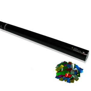 80cm Handheld Confetti Launcher Multicolour Metallic