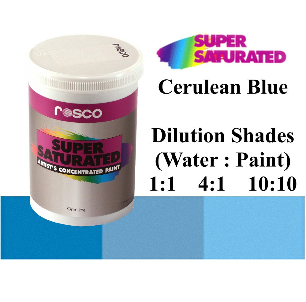 1l Rosco Super Saturated Cerulean Blue Paint
