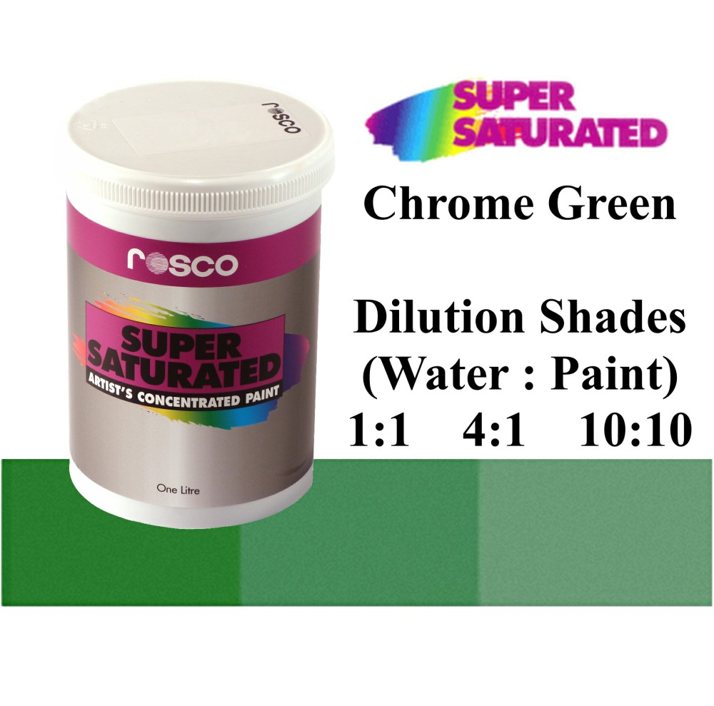 1l Rosco Super Saturated Chrome Green Paint
