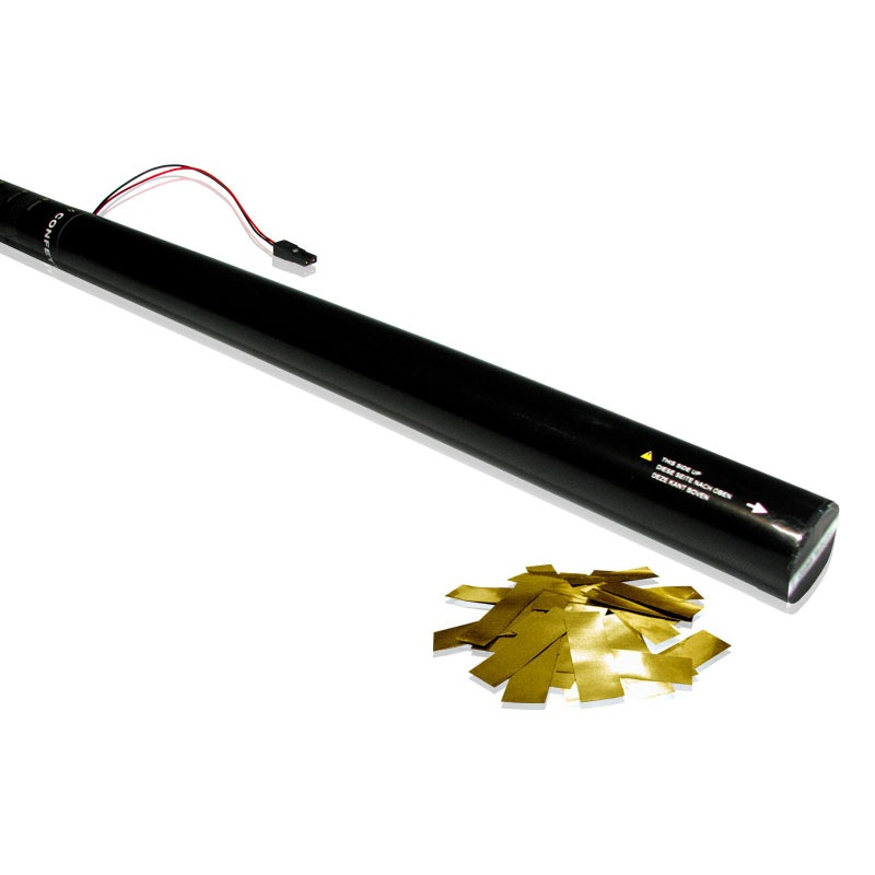 80cm Electric Confetti Cartridge Gold Glitter