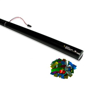 80cm Electric Confetti Cartridge Multicolour Metallic