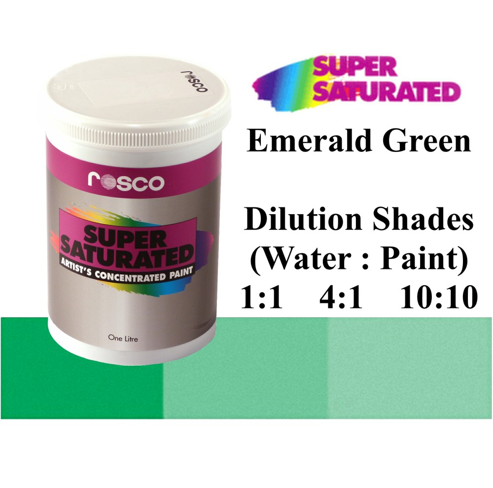 1l Rosco Super Saturated Emerald Green Paint