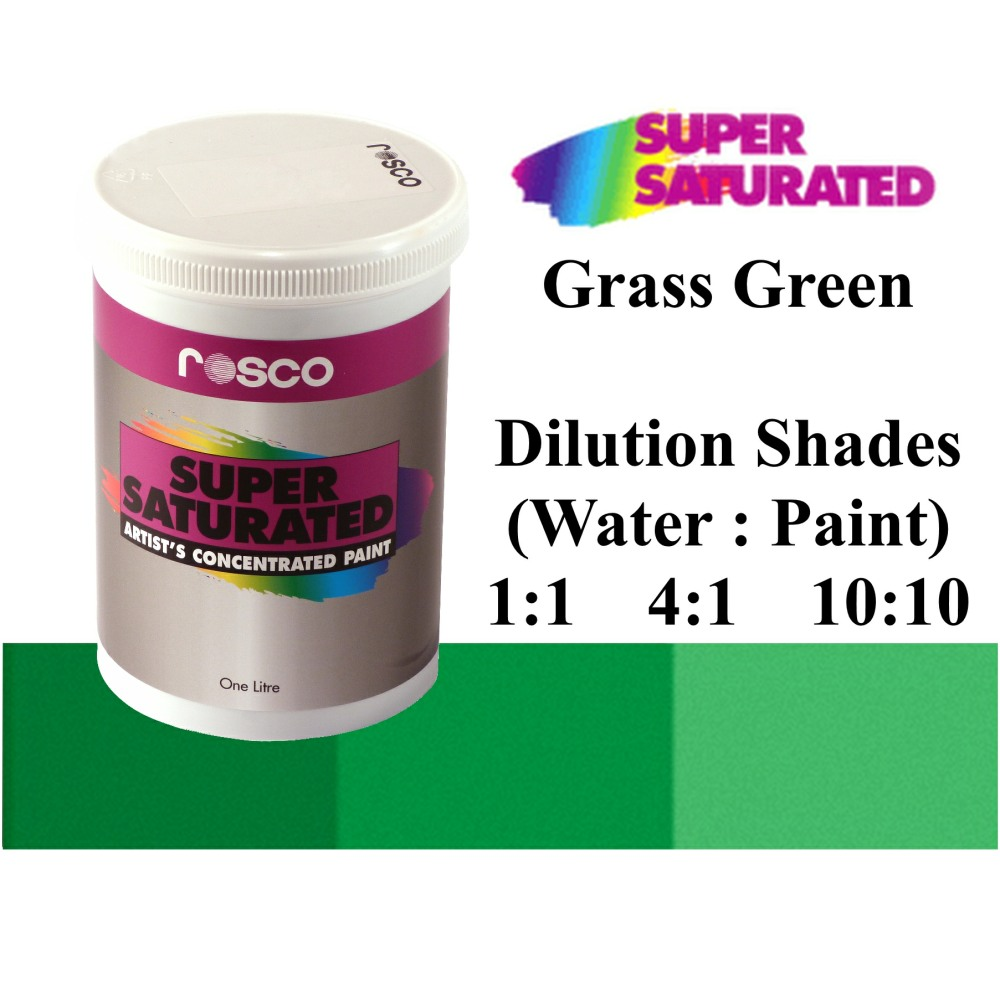 1l Rosco Super Saturated Grass Green Paint