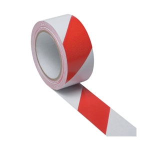 PVC Hazard Warning (Danger) Electrical / Stage Tape Red & White
