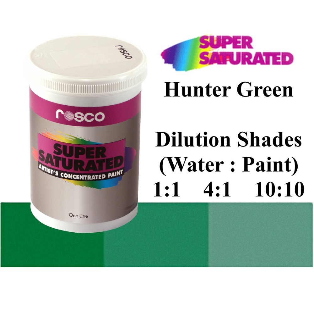 1l Rosco Super Saturated Hunter Green Paint