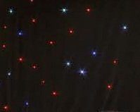 6 x 4m (20 x 13ft) Black Serge LED Starcloth
