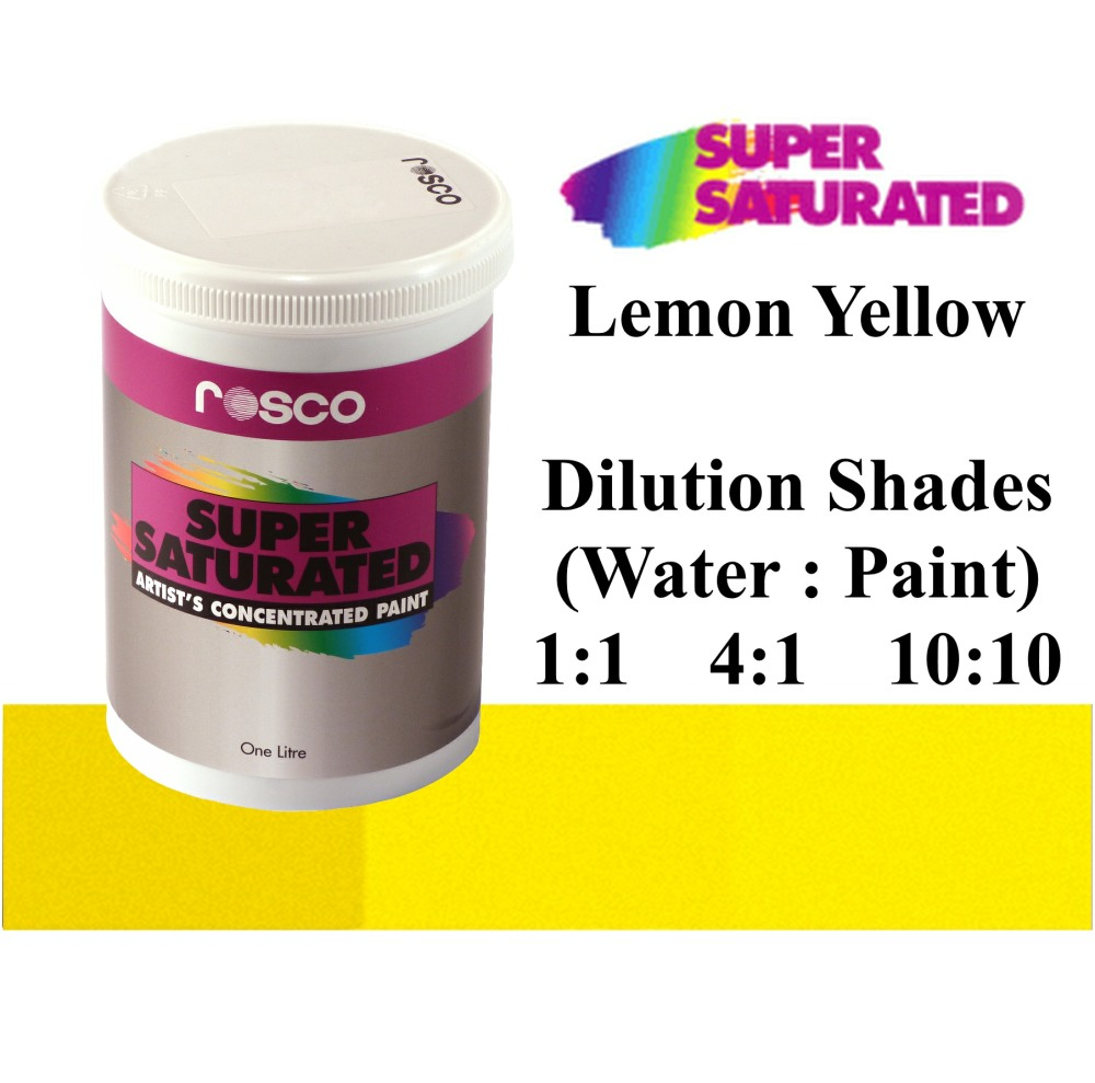 1l Rosco Super Saturated Lemon Yellow Paint