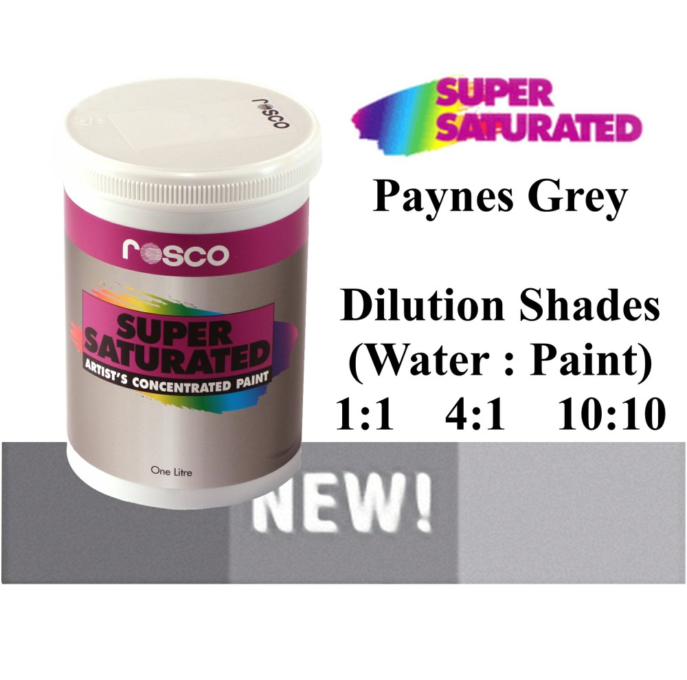 1l Rosco Super Saturated Paynes Grey Paint