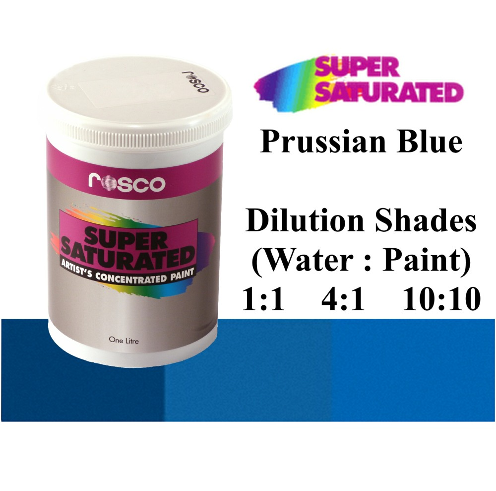 1l Rosco Super Saturated Prussian Blue Paint