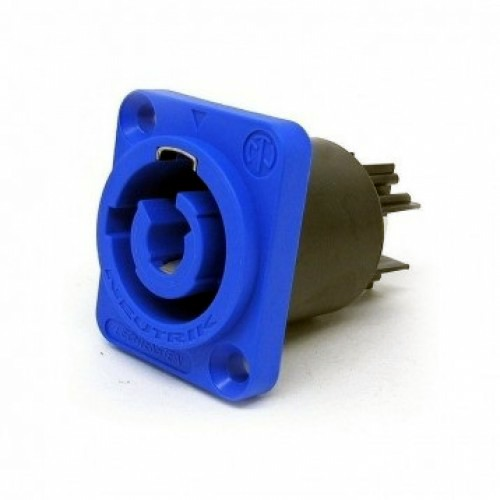 Powercon Pannel Mount Blue Socket NAC3MPA