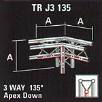 3 Way Trilite Truss Intersection TR J3 135